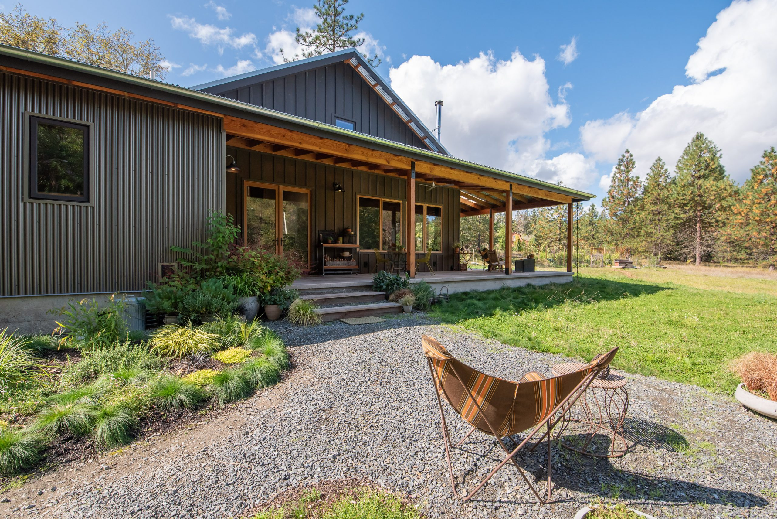 Outdoor Exterior Rustic New Home Construction in Williams Oregon