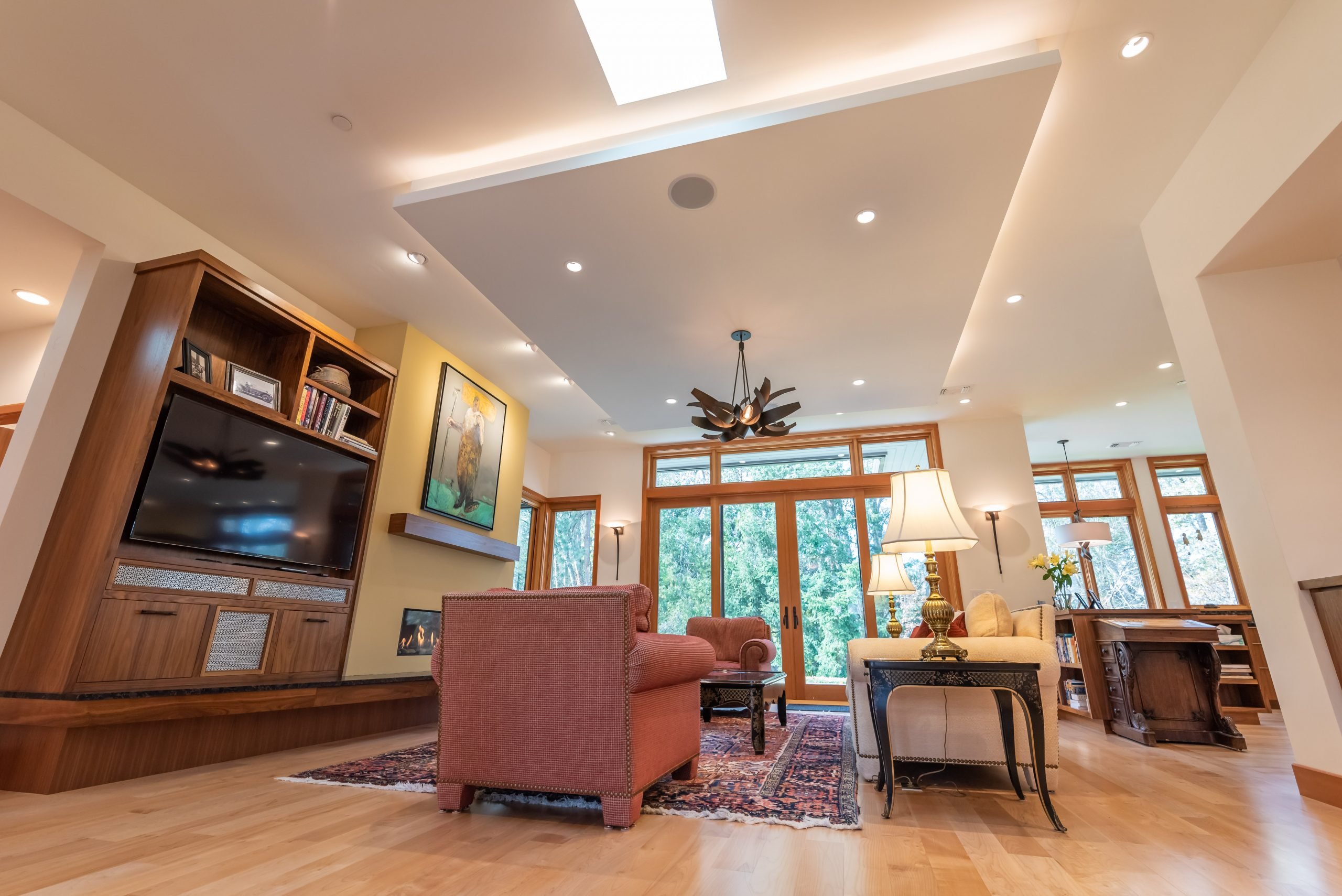New Home Construction Living Room Wide Angle in Ashland Oregon